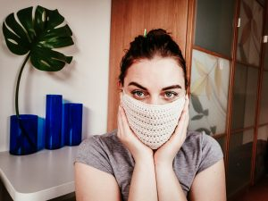 How to Crochet a Simple Filter Face Mask