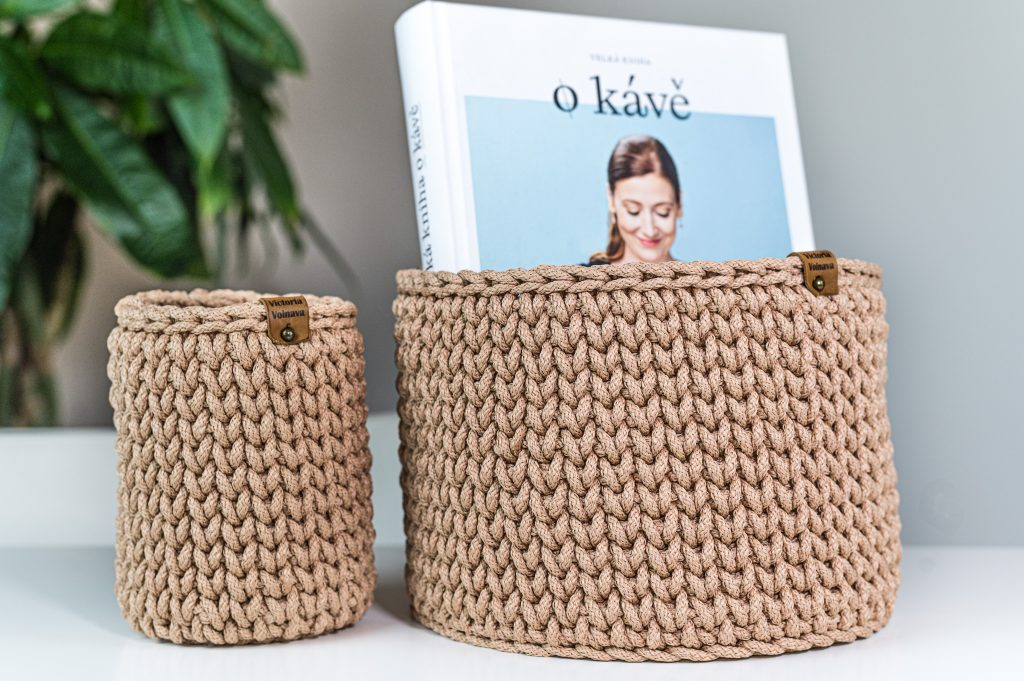 Crochet Baskets from Rope