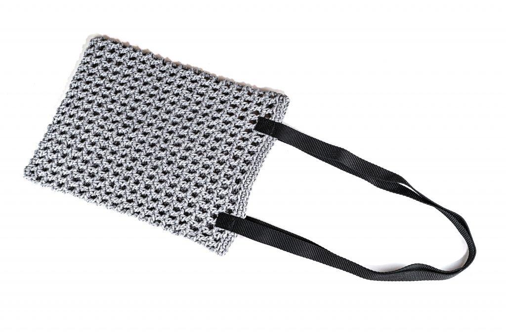 Grey Crochet Bag